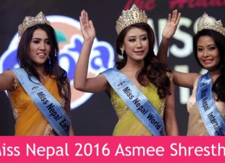 Asmi Shrestha Miss Nepal 2016 Winners