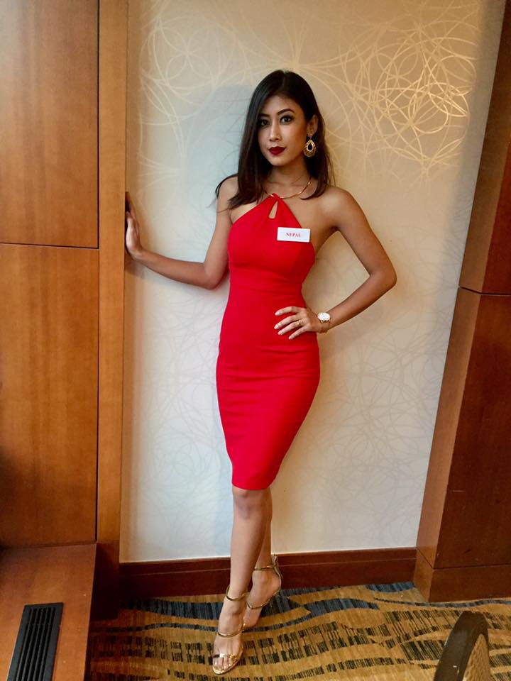 Asmi Shrestha Miss Nepal World 2016 Name Badge 2