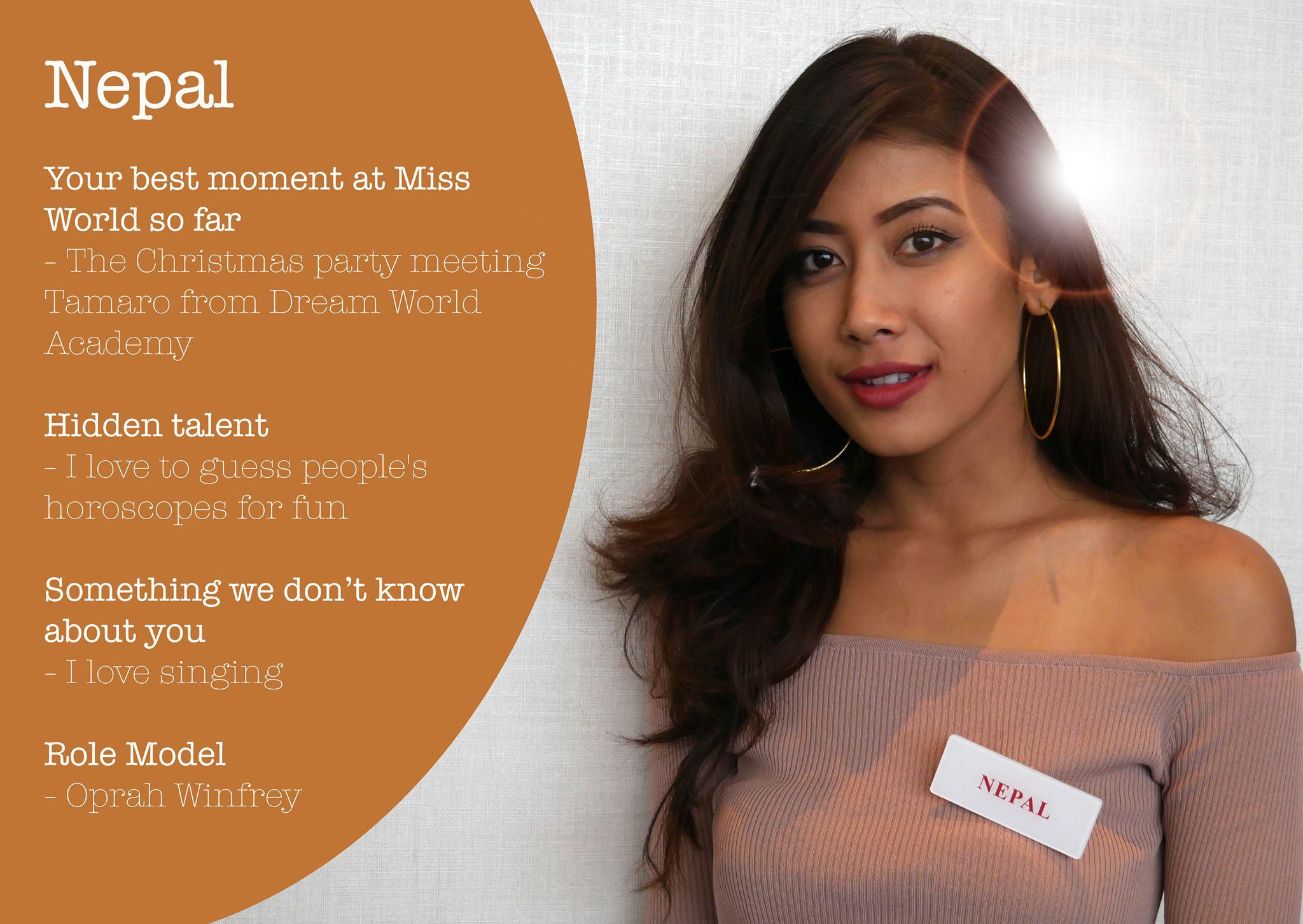 Asmi Shrestha Profile Fun Facts Miss World 2016