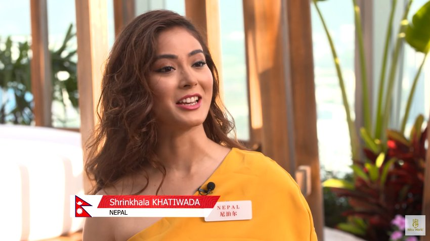 Shrinkhala Khatiwada miss nepal world 2018